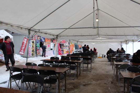 富士山雪まつり フードコート テント