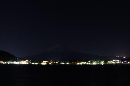 河口湖冬花火 富士山