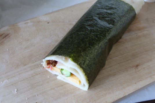 吉田のうどん麺ロール のり 巻く