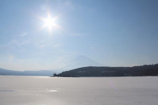 山中湖アイスキャンドル ダイヤモンド富士 場所とり