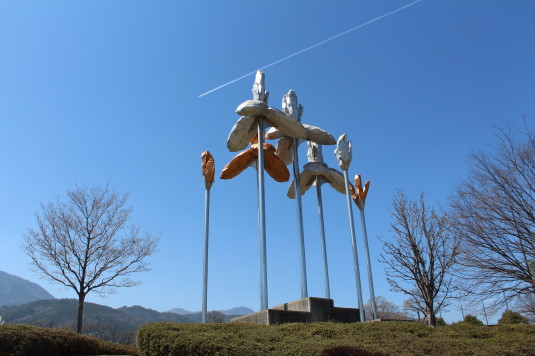 桜 滝沢川公園 総合公園 あやめシンボル