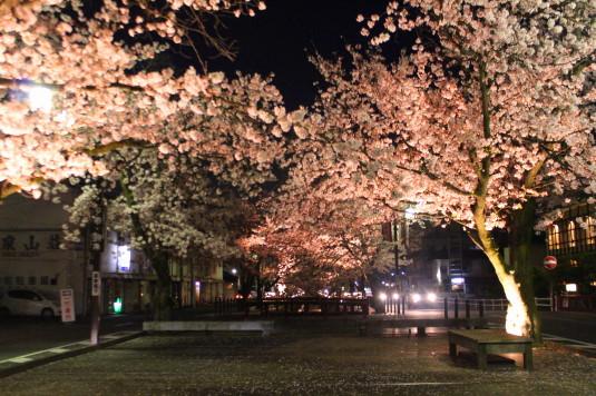 桜 石和温泉桜通り ウッドデッキ