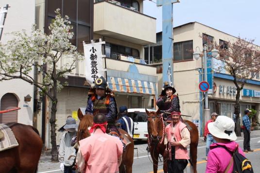 武田二十四将騎馬行列 女性