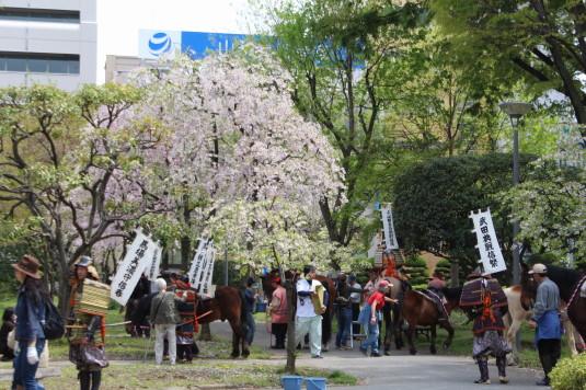 武田二十四将騎馬行列 中央公園