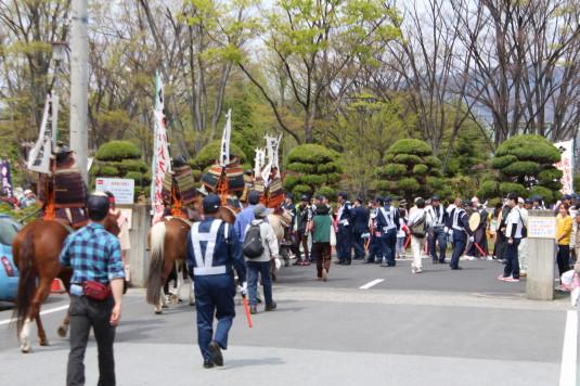 武田二十四将騎馬行列 遊亀公園
