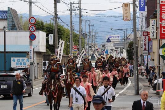 武田二十四将騎馬行列 遊亀通り 騎馬行列
