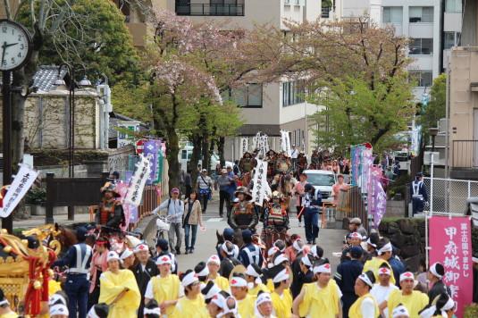 武田二十四将騎馬行列 舞鶴城公園 騎馬
