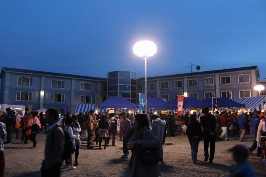 長坂夜桜祭り 会場 全体