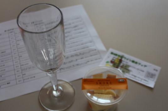 甲府ワイン組合フェア チーズとワイン