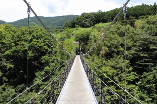 久保の吊り橋 橋の上