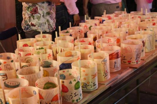 月見が池弁財天祭り 灯篭