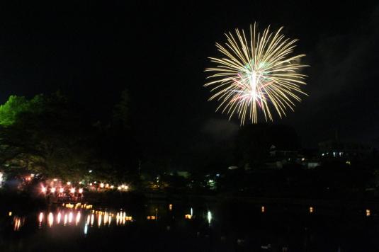 月見が池弁財天祭り 花火