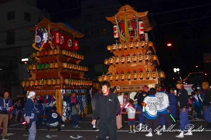 伊予西条駅 前夜祭 西町だんじり(西町屋台)