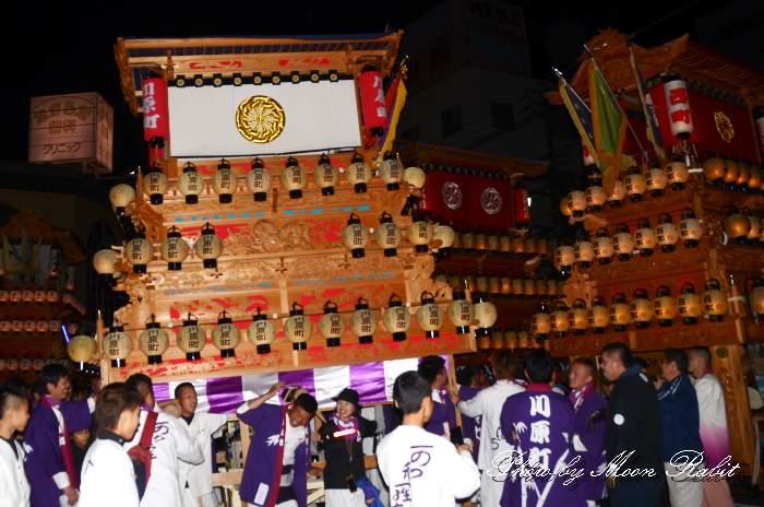 伊予西条駅 前夜祭 川原町だんじり(川原町屋台)