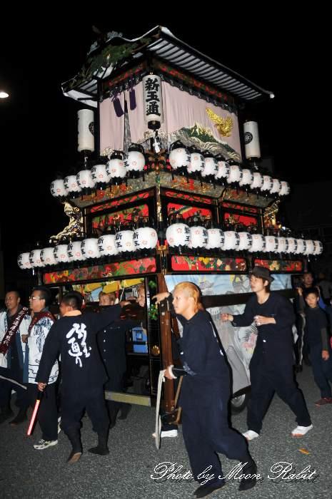 伊予西条駅 前夜祭 新玉通だんじり(新玉通り屋台)