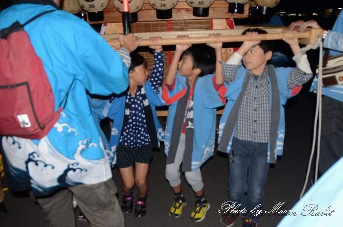 新堀上組子供だんじり(新堀上子供屋台) 祭り装束 西条祭り
