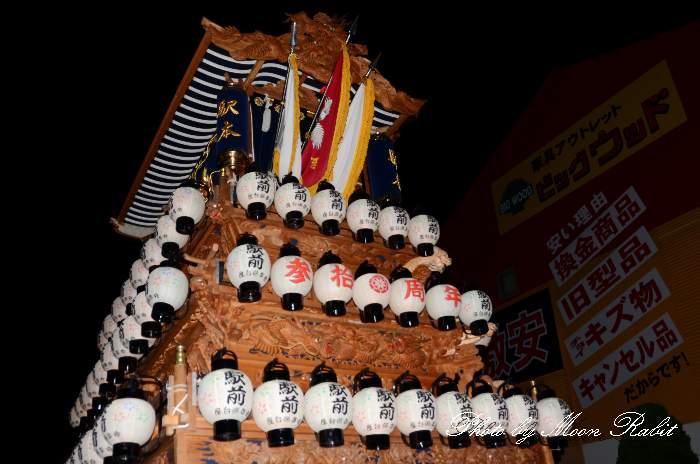 西条祭り 駅本屋台(駅前本通だんじり) 祭り提灯