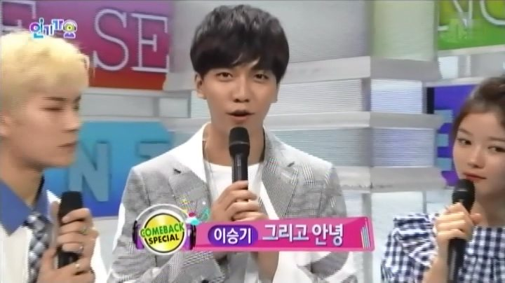 イ・スンギ SBS人気歌謡 出演映像