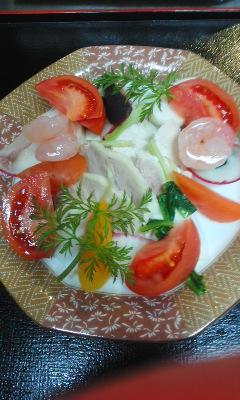 150110三浦野菜と蒸し鶏のサラダ盛