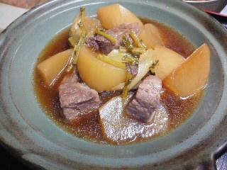 150423カマ(本鮪)三浦大根の炊き合わせ
