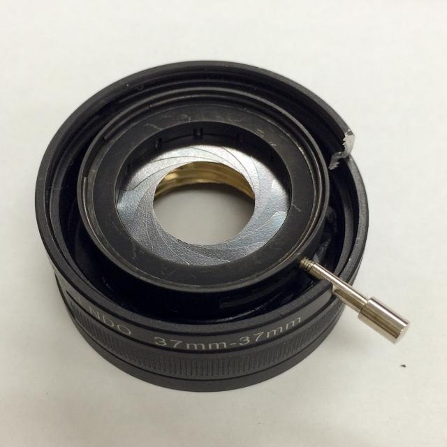 HD-R改造レンズ組立絞りユニット取付4