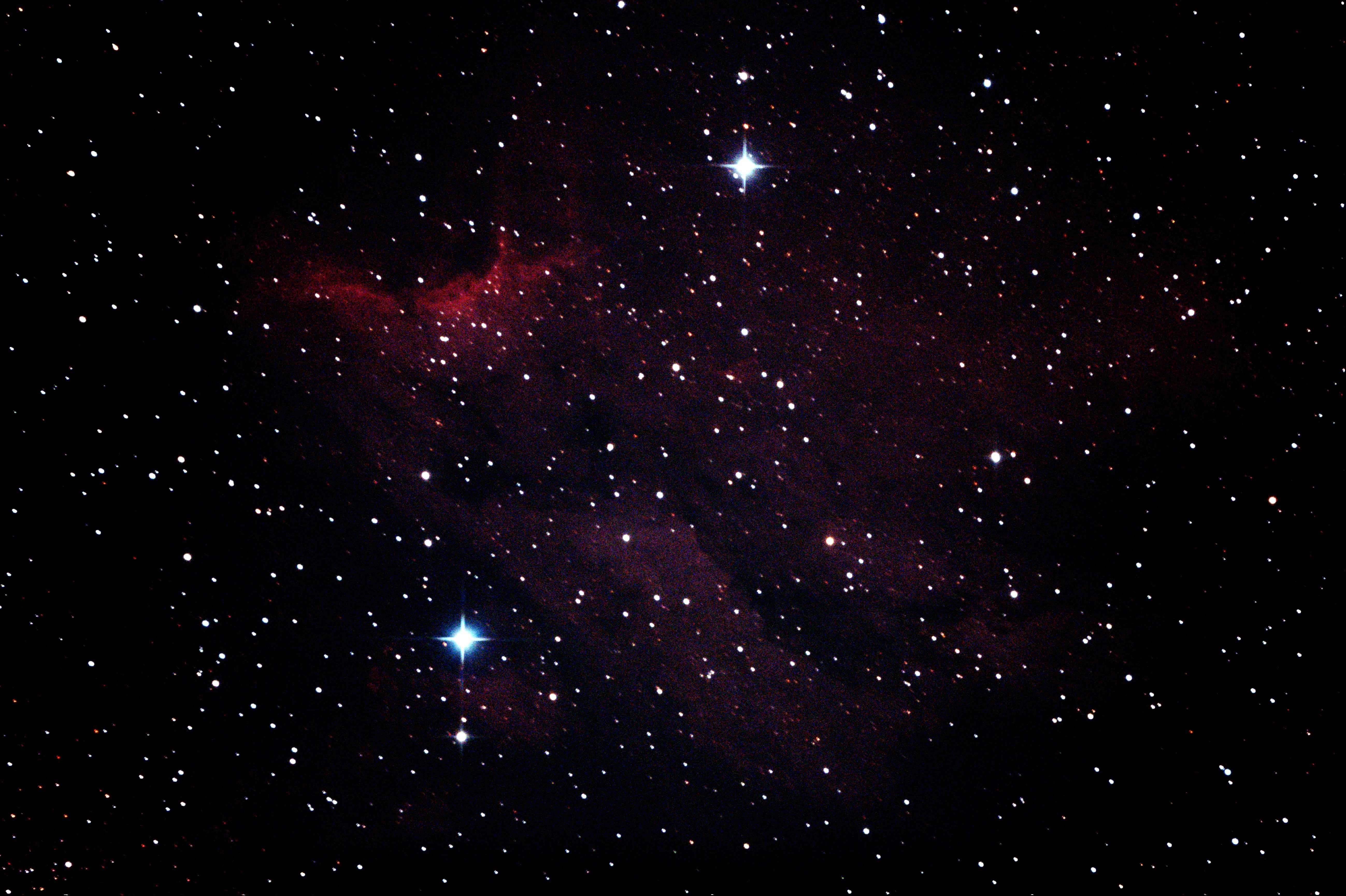 ペリカン星雲4枚comp1minガイドなし