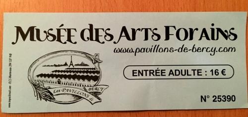 Le musée des Arts forains チケット
