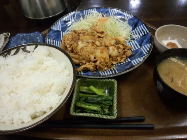 12月21日 豚キムチ定食@オオシモ
