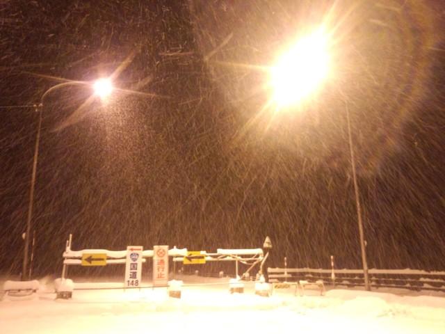 12月13日 白馬オリンピック道路