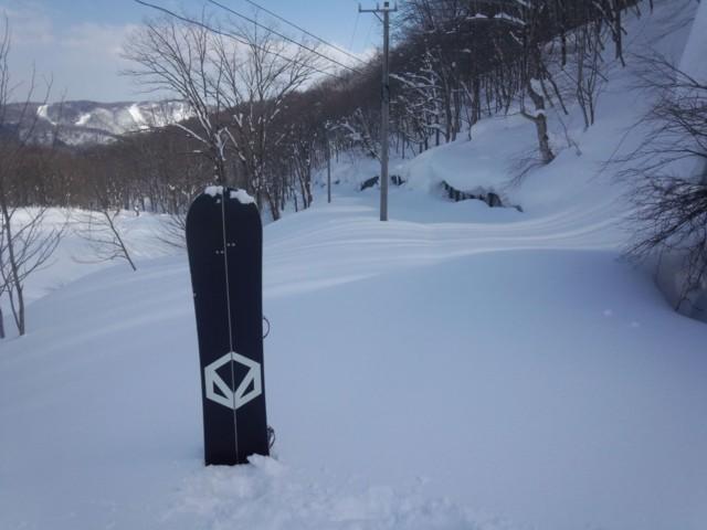2月11日 帰りの白馬岳線ノートラ