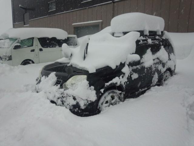 2月15日 五竜駐車場の積雪