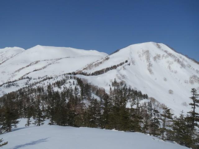 2月28日 西鵯からハクノリ大斜面