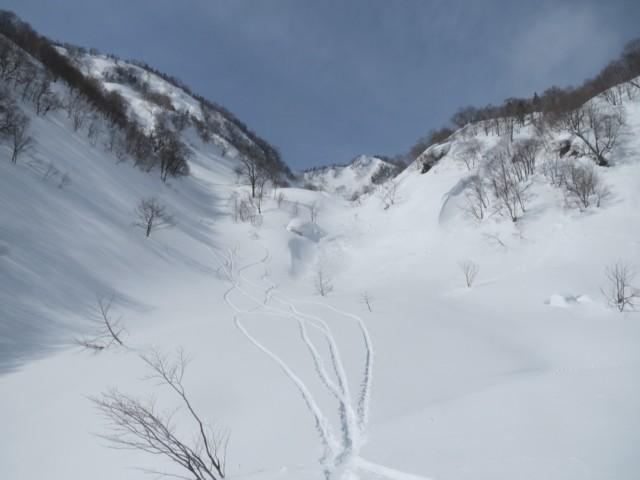 2月28日 西鵯と鵯峰のコル