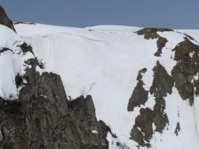 3月21日 雪壁トラバースライン