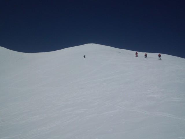 3月22日 稜線手前