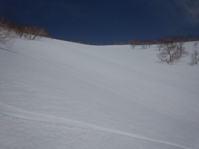 3月22日 スキーヤー左の斜面
