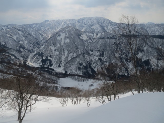 3月29日 真ん中は堂津岳