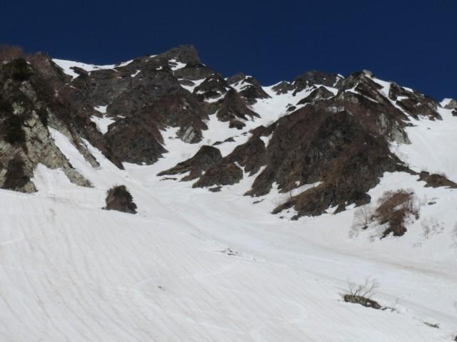 4月26日 大雪渓から2号雪渓
