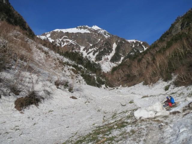 5月6日 本谷橋から北穂高岳