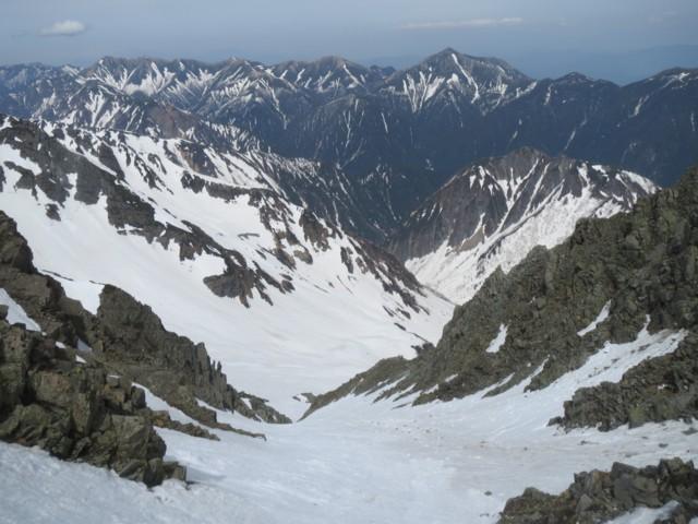 5月6日 直登ルンゼから常念岳