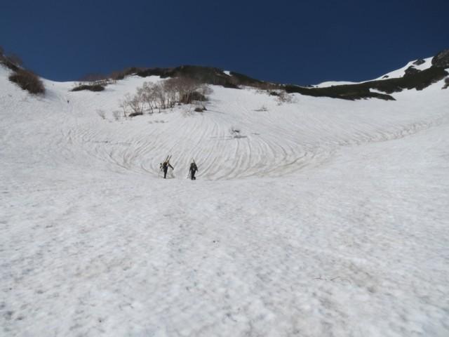 5月17日 針ノ木峠とヤマクボ沢の分岐