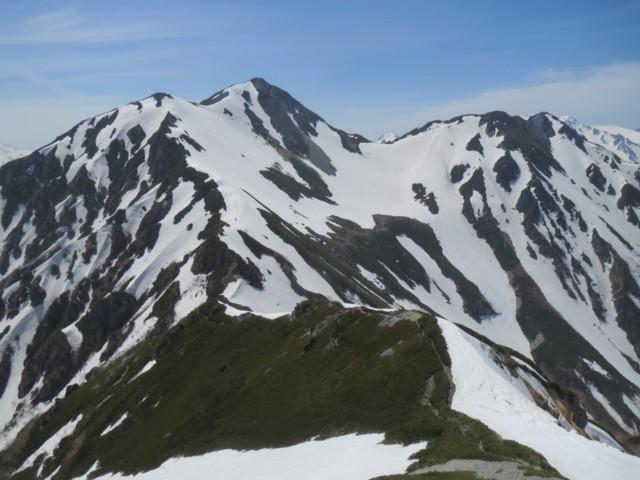 5月17日 途中から見た針ノ木岳
