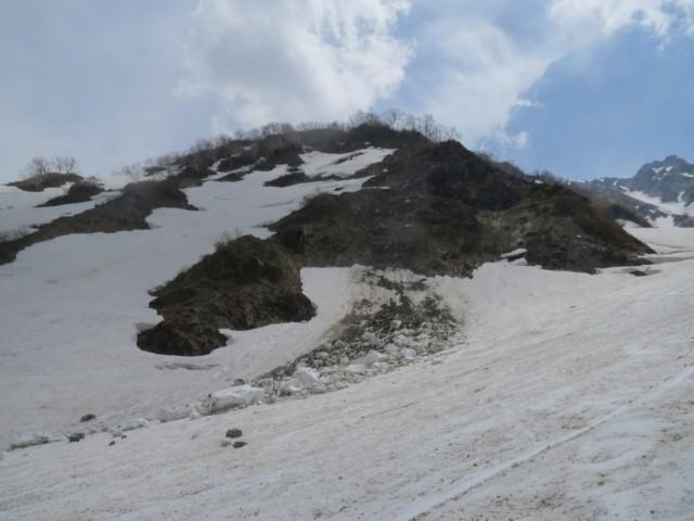 5月24日 ブロック雪崩全部落ちた