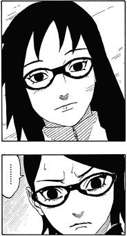 NARUTO外伝700+1話 サラダの眼鏡がカリンと似すぎ