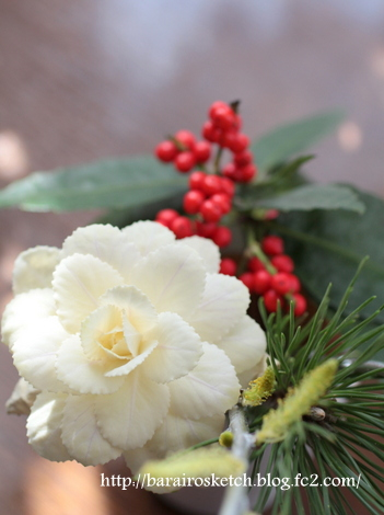 お正月の花その後4