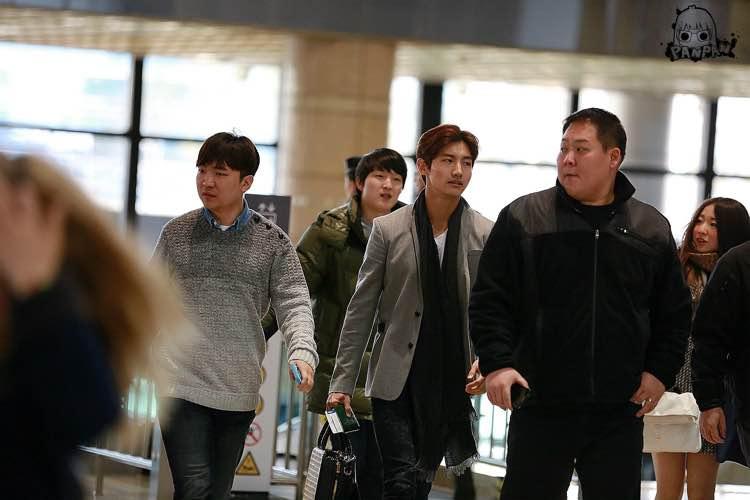 2015年3月12日 今日の金浦空港にて、日本に向かったお