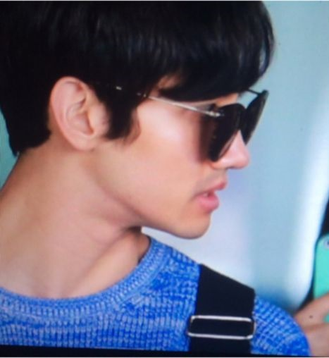 150531 Changmin at Incheon Airport (back to Korea)7