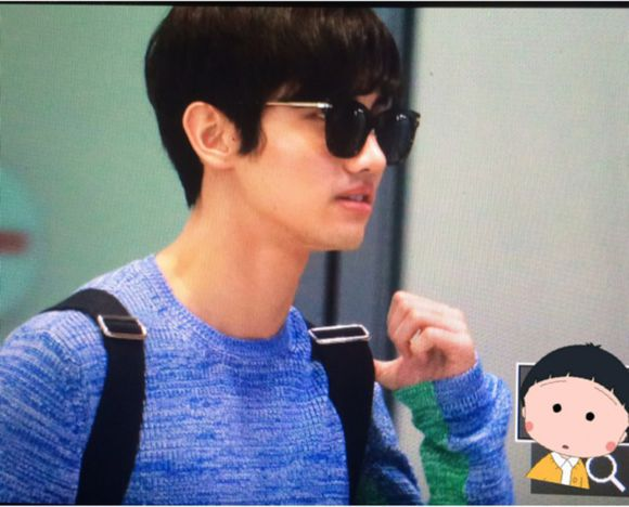 150531 Changmin at Incheon Airport (back to Korea)3