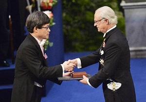 ノーベル賞授賞式の天野教授