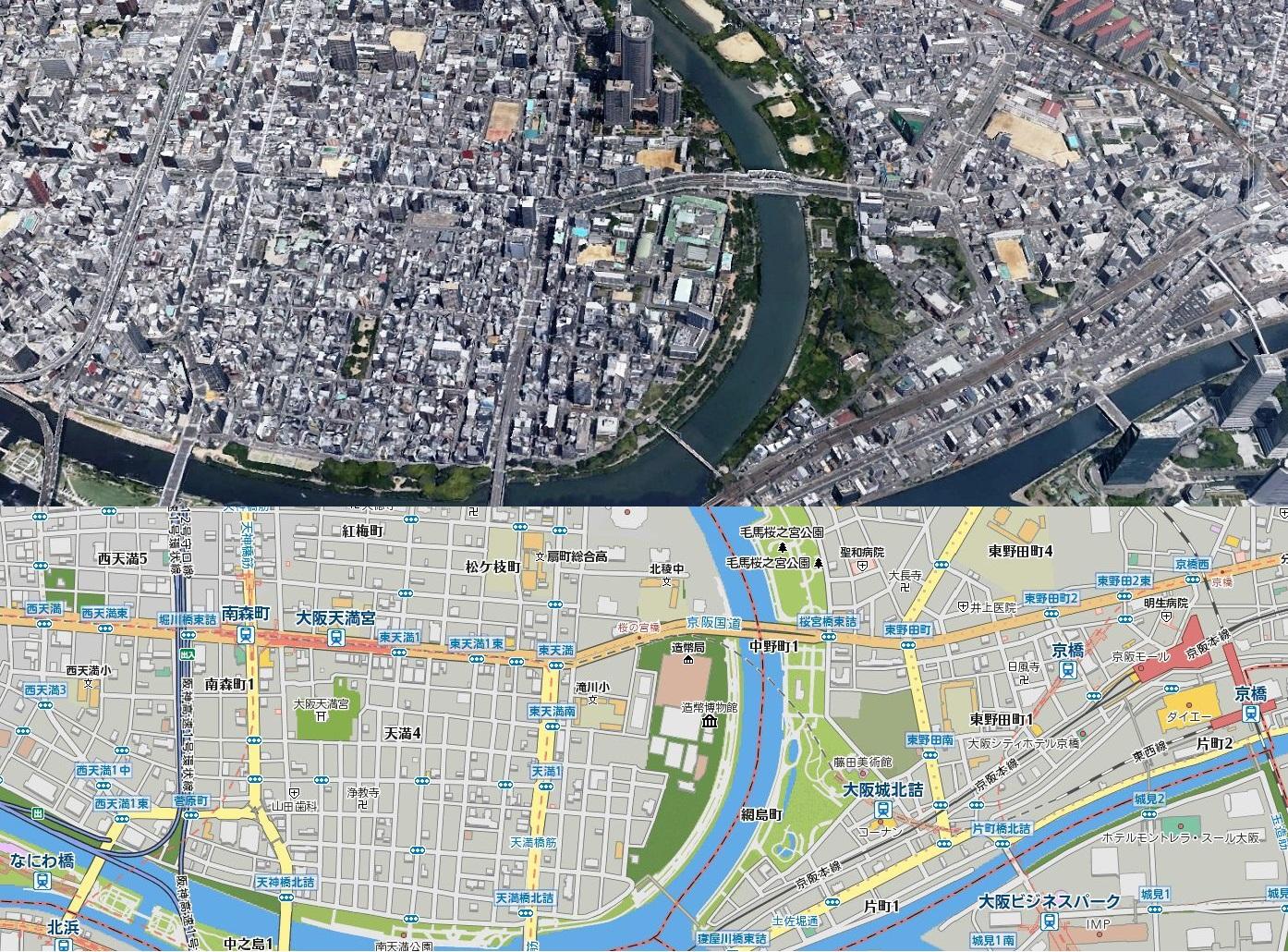 大川沿いMAP